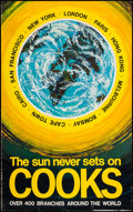 "Movie Posters:Miscellaneous, Cooks Travel Poster (1960s). Poster (25"" X 40"") ""The Sun Never Sets on Cooks."" Miscellaneous.. ..."