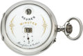 Timepieces:Pocket (post 1900), Cortebert Silver Digital Watch With J. Pallweber's Patent, circa1900. ...