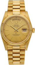 Timepieces:Wristwatch, Rolex Ref. 18038 Gold Oyster Perpetual Day-Date President, circa 1982. ...