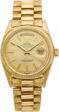 Timepieces:Wristwatch, Rolex Ref. 1803 Gold Oyster Perpetual Day-Date, circa 1970. ...