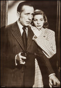 """Movie Posters:Miscellaneous, Humphrey Bogart & Lauren Bacall (AGI, Early 1980s). German Personality Poster (26"""" X 38""""). Miscellaneous.. ..."""