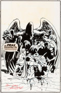 Original Comic Art:Covers, Patrick Olliffe and Bob Almond Warlock and the InfinityWatch #34 Cover Original Art (Marvel, 1994)....