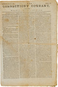 Miscellaneous:Ephemera, [Revolutionary War]. Newspaper: The Connecticut Courant, and theWeekly Intelligencer....