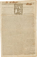 Miscellaneous:Ephemera, [Revolutionary War]. Newspaper: Independent Chronicle. And theUniversal Advertiser....