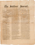 Miscellaneous:Ephemera, [Civil War]. Union Newspaper: The Soldiers' Journal....
