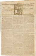 Miscellaneous:Ephemera, [Revolutionary War]. Newspaper: The Independent Chronicle. Andthe Universal Advertiser....