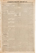 Miscellaneous:Ephemera, [Cherokee Indians Removal]. Newspaper: IndependentJournal....