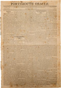 Miscellaneous:Ephemera, [War of 1812 -- Battle of New Orleans]. Newspaper: PortsmouthOracle....