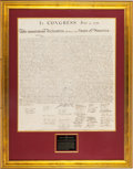 Miscellaneous:Ephemera, William J. Stone for Peter Force: The Declaration of Independence....