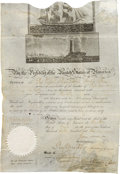 Autographs:U.S. Presidents, James Madison Scallop-Top Ship's Passport Signed....
