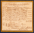 Autographs:U.S. Presidents, George Washington Autograph Document Signed...
