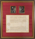 Autographs:U.S. Presidents, Thomas Jefferson and James Madison Signed Four Languages Ship'sPassport....