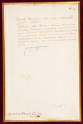 Autographs:Non-American, Empress Catherine the Great Letter Signed...