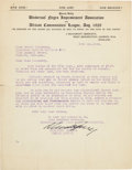 Autographs:Celebrities, Marcus Garvey Typed Letter Signed....