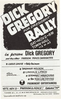 Miscellaneous:Broadside, [Dick Gregory]. Dick Gregory for President Rally Broadside for the 1968 Election....