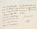 Autographs:U.S. Presidents, [Ulysses S. Grant]. Prince George, 2nd Duke of Cambridge, AutographLetter Signed....