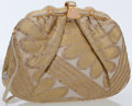 Luxury Accessories:Bags, Judith Leiber Gold & White Canvas and Pale Pink Crystal ClutchBag . ...