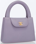 Luxury Accessories:Bags, Chanel Lilac Lambskin Leather Small Tote Bag with Gold Hardware....