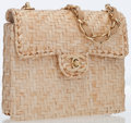 Luxury Accessories:Bags, Chanel Beige Wicker Mini Flap Bag with Gold Hardware . ...