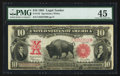Large Size:Legal Tender Notes, Fr. 122 $10 1901 Legal Tender PMG Choice Extremely Fine 45.. ...