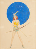 Pin-up and Glamour Art, WILLY POGANY (Hungarian/American, 1882-1955). Sagittarius,circa 1944. Mixed media on board. 19 x 14 in. (sight). Not si...