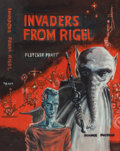 Pulp, Pulp-like, Digests, and Paperback Art, EDMUND (EMSH) EMSHWILLER (American, 1925-1990). Invaders fromRigel, preliminary paperback cover, 1964. Gouache on board...