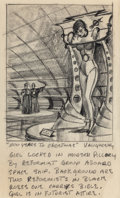 Pulp, Pulp-like, Digests, and Paperback Art, ED VALIGURSKY (American, 1926-2009). 200 Years to Christmas,preliminary story illustration. Pencil on paper. 8.75 x 5.2...