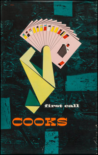 """Cooks Travel Poster (c.1955). Poster (25"""" X 40"""") """"First Call."""" Miscellaneous"""