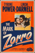 """Movie Posters:Swashbuckler, The Mark of Zorro (20th Century Fox, R-1958). Silk Screen Poster (40"""" X 60""""). Swashbuckler.. ..."""