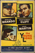 "Movie Posters:War, The Young Lions (20th Century Fox, 1958). Poster (40"" X 60"") StyleZ. War.. ..."