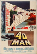 "Movie Posters:Science Fiction, 4D Man (Universal International, 1959). Poster (40"" X 60""). ScienceFiction.. ..."