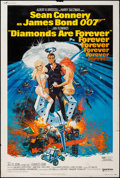 "Movie Posters:James Bond, Diamonds are Forever (United Artists, 1971). Poster (40"" X 60"").James Bond.. ..."