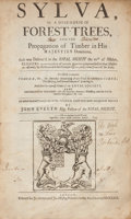 Books:Natural History Books & Prints, John Evelyn. Sylva, Or A Discourse Of Forest-Trees, And The Propagation of Timber in His Majesties Dominions. As it was ...