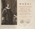 Books:Science & Technology, Francis Bacon. The Works...With several Additional Pieces, Neverbefore printed in any Edition of his Works. To which is... (Total:4 )