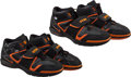 Basketball Collectibles:Others, Circa 2005 Amar'e Stoudemire Game Worn, Signed Phoenix Suns Sneakers - Two Pair....