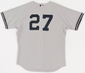 Baseball Collectibles:Uniforms, 2006 Kevin Thompson Game Worn New York Yankees Jersey With SteinerLetter. ...
