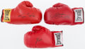 Boxing Collectibles:Autographs, Circa 2000 Marvin Hagler, Leon Spinks & Julio Chavez SignedBoxing Gloves Lot of 3. ...