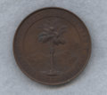 Netherlands East Indies, Netherlands East Indies: Society of Arts and Sciences bronze Medal1878 AU Stained,...