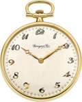 Timepieces:Pocket (post 1900), Audemars Piguet Platinum & Gold Watch For Grogan & Co.,circa 1920. ...