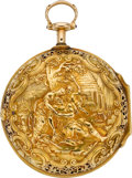 Timepieces:Pocket (pre 1900) , William Webster, Exchange Alley, Very Fine Gold Repoussé VergeFusee, circa 1770. ...
