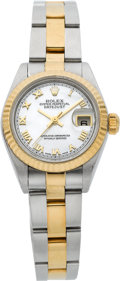 Timepieces:Wristwatch, Rolex Lady's Ref. 79173 Two Tone Datejust With Mother-of-PearlDial. ...