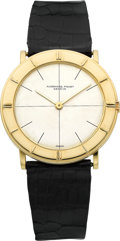 Timepieces:Wristwatch, Audemars Piguet Ref. 18631 Gent's Gold Ultra-Thin Wristwatch, circa1970's. ...