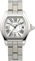 Timepieces:Wristwatch, Cartier Ref. 3312 Large Steel Automatic Roadster, circa 2010. ...