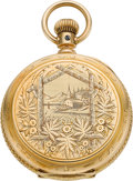 Timepieces:Pocket (pre 1900) , Illinois 14k Gold 4 Size Hunters Case, circa 1885. ...