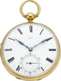 Timepieces:Pocket (pre 1900) , George E. Mylne London 18k Gold Lever Fusee, circa 1830. ...