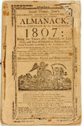 Books:Americana & American History, [Almanac]. Isaiah Thomas, Jr. Almanack, with an Ephemeris forthe Year of Our Lord 1806, et al. Worcester: Thomas & ...