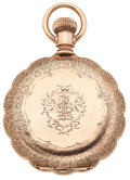 Timepieces:Pocket (post 1900), Elgin 14k Gold 15 Jewel Hunter's Case Pocket Watch. ...