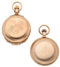 Timepieces:Pocket (post 1900), Two Elgin's 18 Size Hunter's Case Pocket Watches. ... (Total: 2Items)