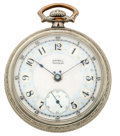 Timepieces:Pocket (post 1900), Waltham 19 Jewel Riverside Fancy Enamel Pocket Watch. ...