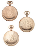 Timepieces:Pocket (post 1900), Three Gold Filled Hunter's Case Pocket Watches. ... (Total: 3Items)